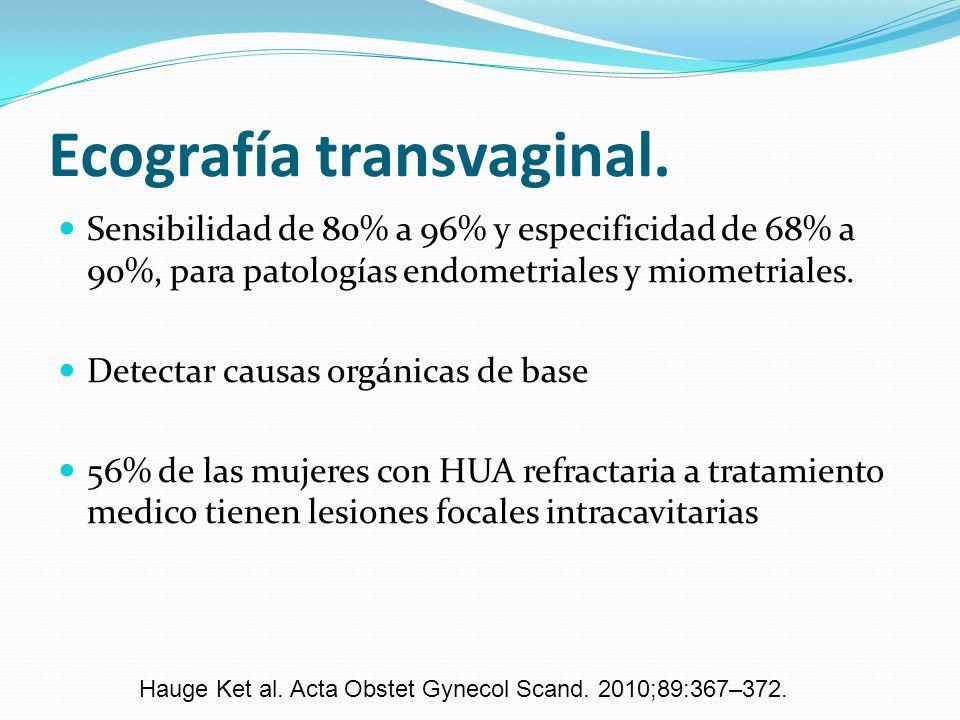 Ecografía transvaginal.