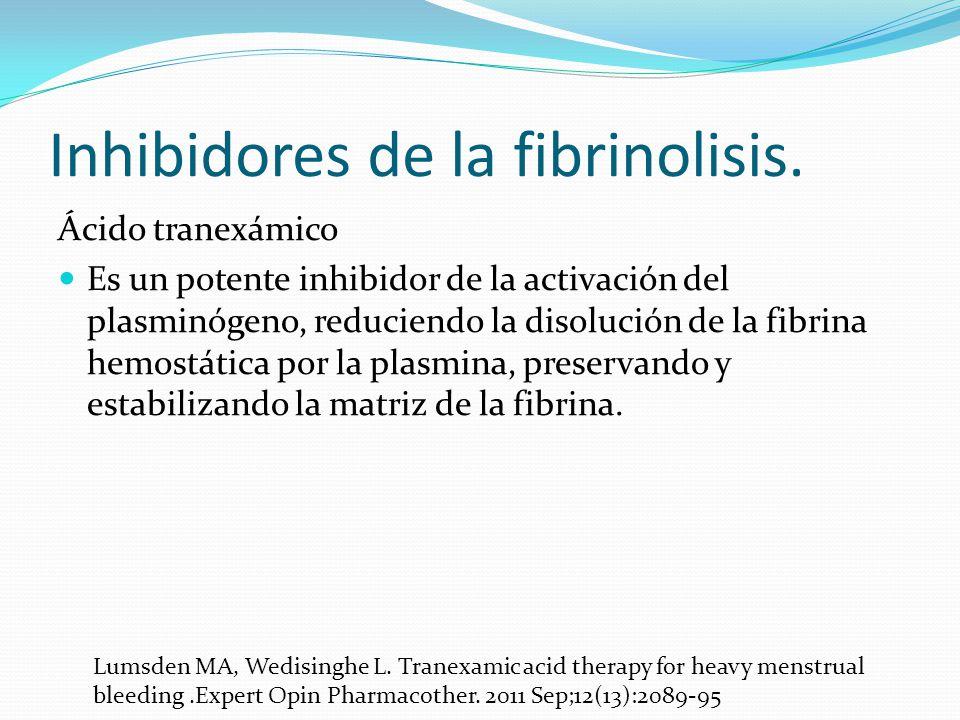 Inhibidores de la fibrinolisis.