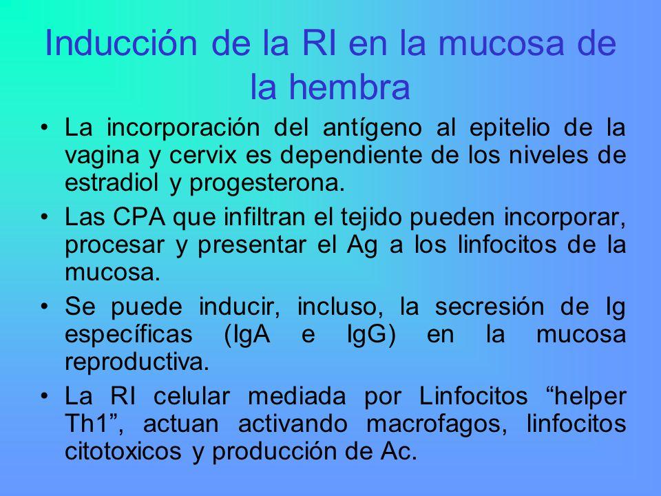 Inducción de la RI en la mucosa de la hembra