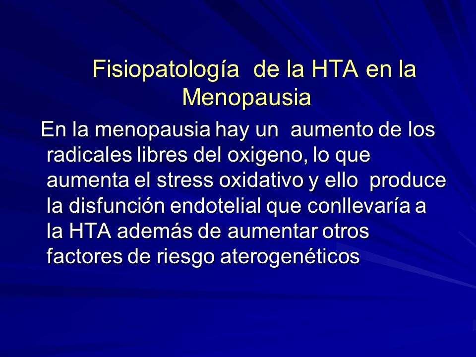 Fisiopatología de la HTA en la Menopausia