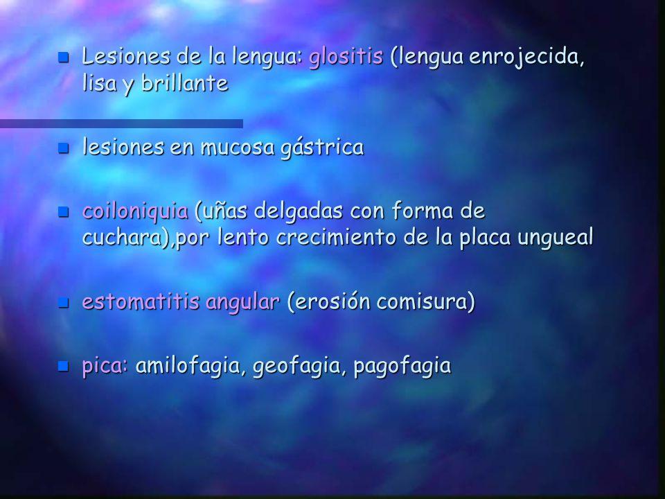 Lesiones de la lengua: glositis (lengua enrojecida, lisa y brillante