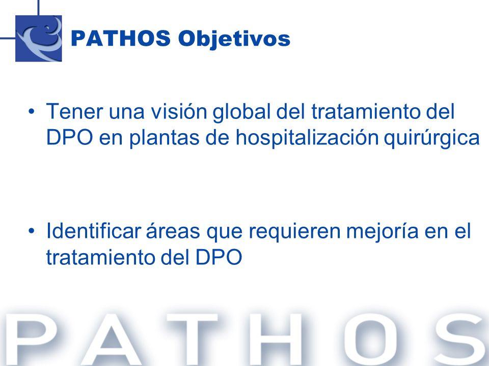 PATHOS ObjetivosTener una visión global del tratamiento del DPO en plantas de hospitalización quirúrgica.