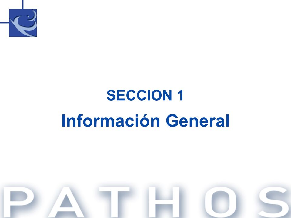 SECCION 1 Información General