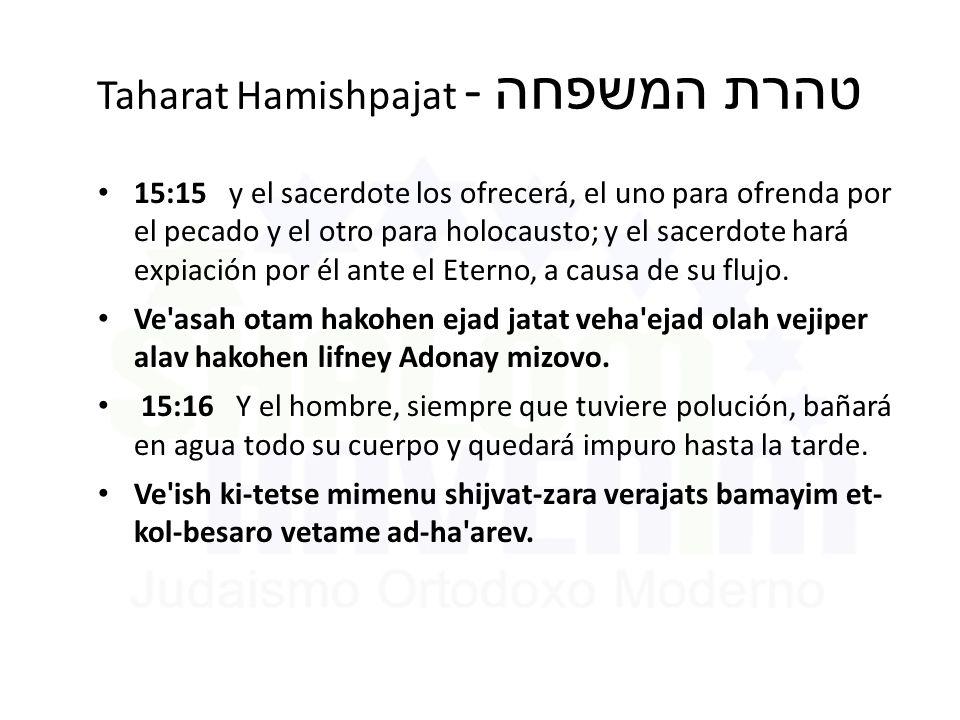 Taharat Hamishpajat - טהרת המשפחה