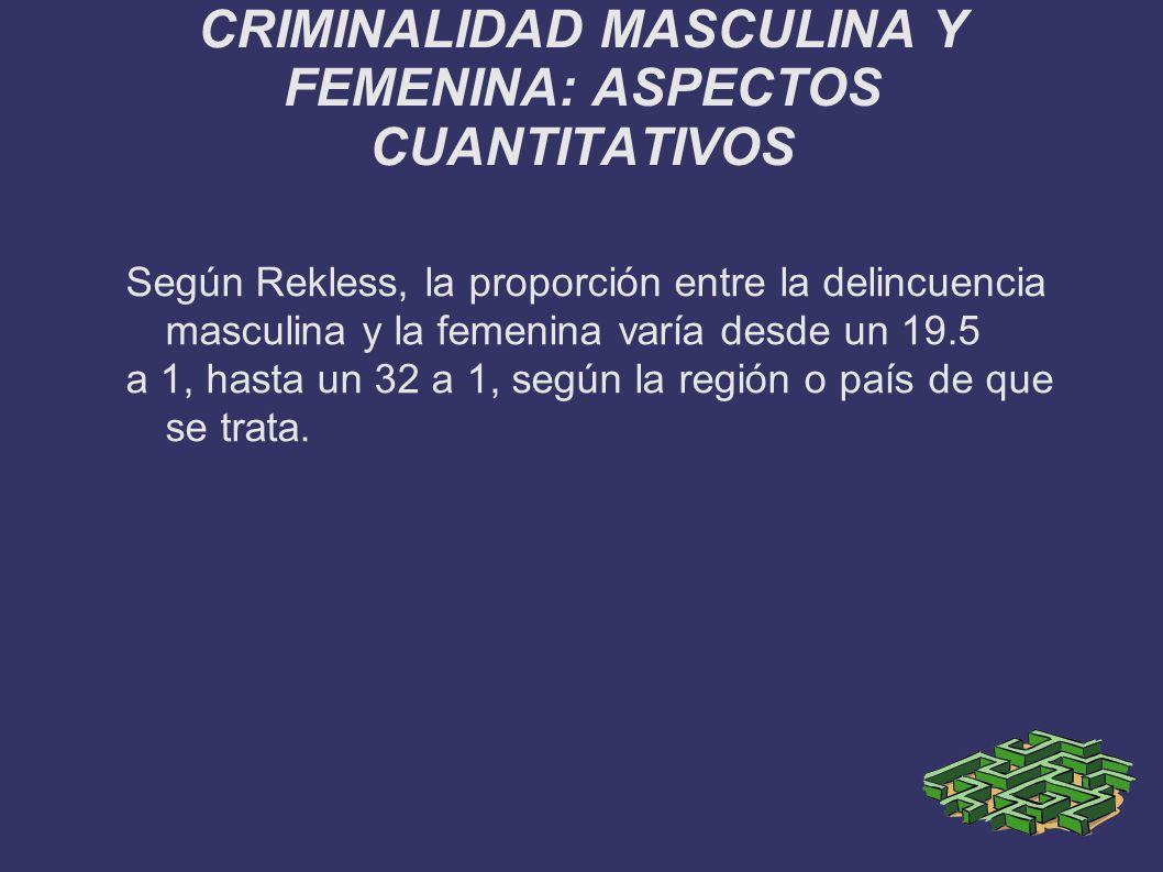 CRIMINALIDAD MASCULINA Y FEMENINA: ASPECTOS CUANTITATIVOS