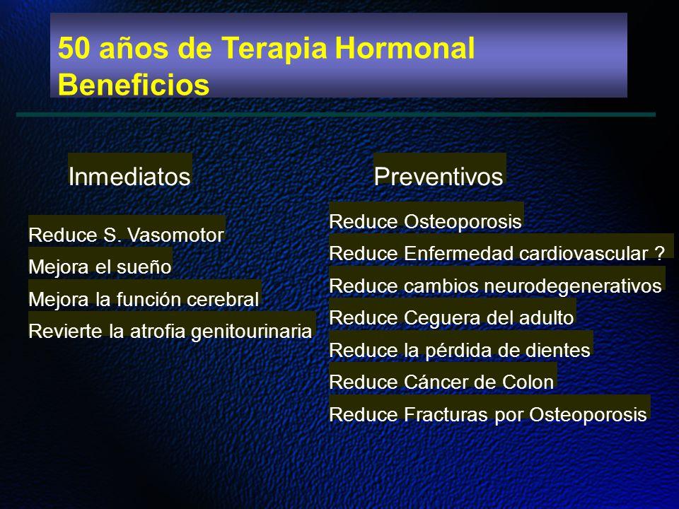 50 años de Terapia Hormonal Beneficios