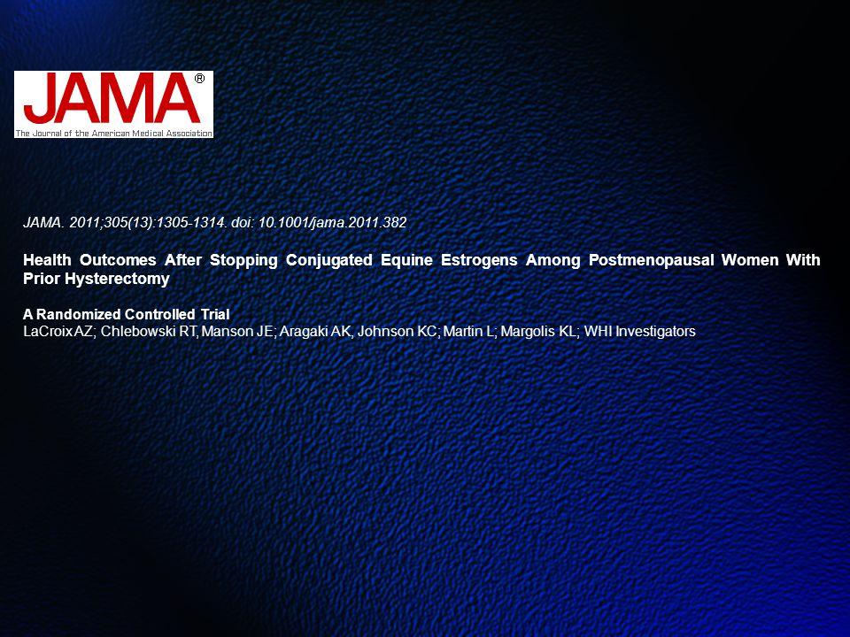 JAMA. 2011;305(13):1305-1314. doi: 10.1001/jama.2011.382