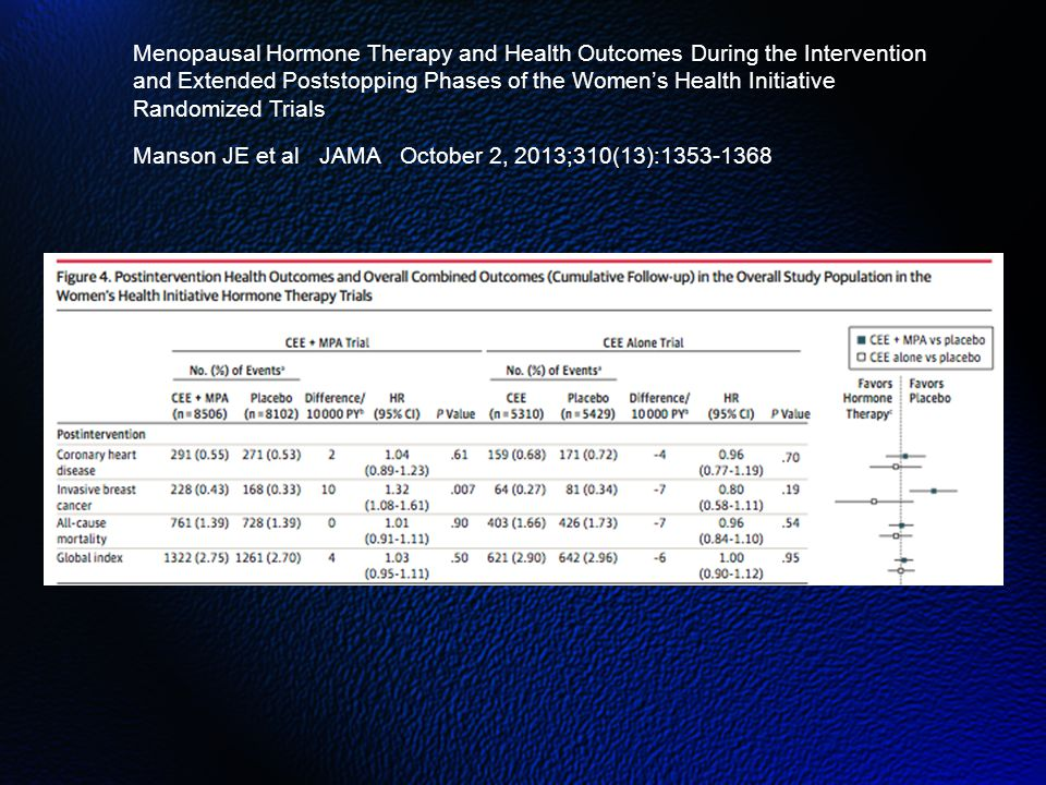 Menopausal Hormone Therapy and Health Outcomes During the Intervention and Extended Poststopping Phases of the Women's Health Initiative Randomized Trials