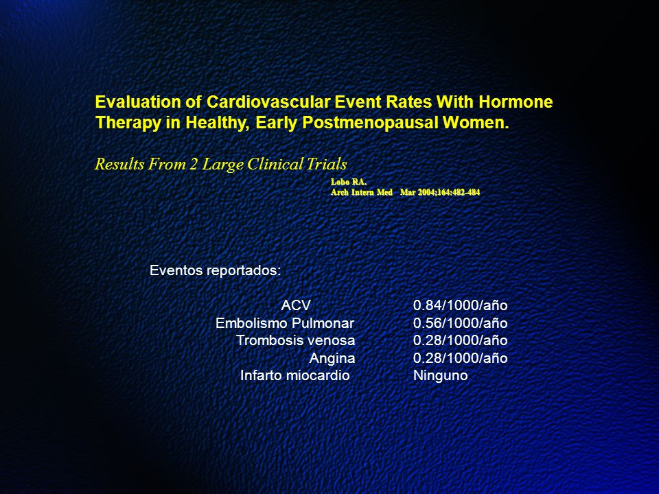 Evaluation of Cardiovascular Event Rates With Hormone