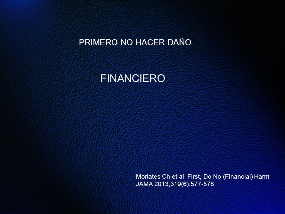 FINANCIERO PRIMERO NO HACER DAÑO