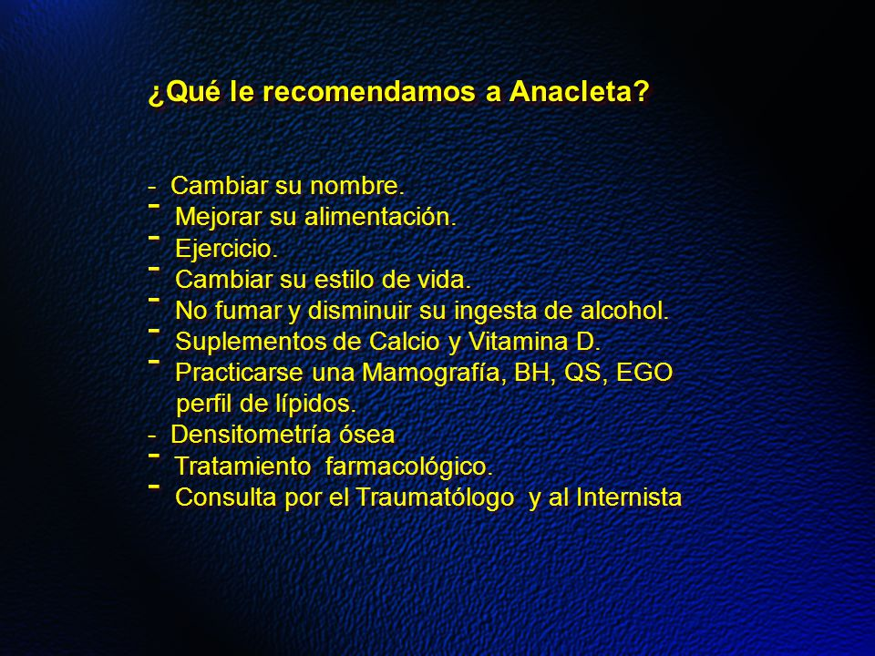 ¿Qué le recomendamos a Anacleta