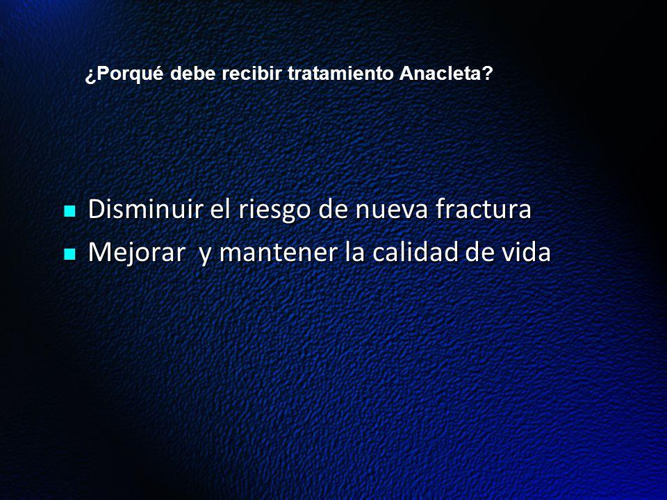 ¿Porqué debe recibir tratamiento Anacleta