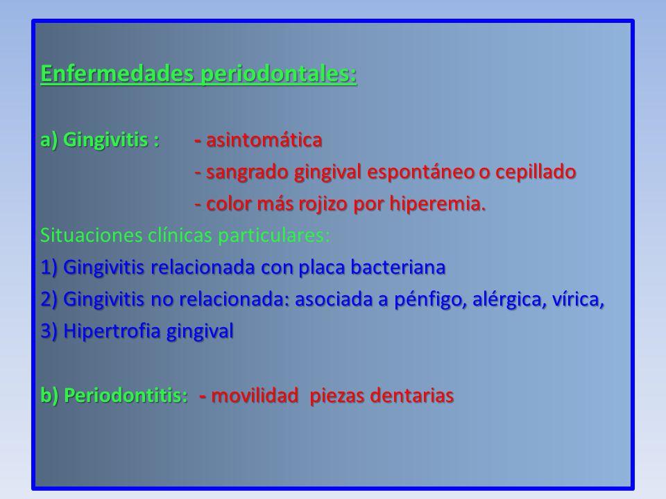 Enfermedades periodontales: