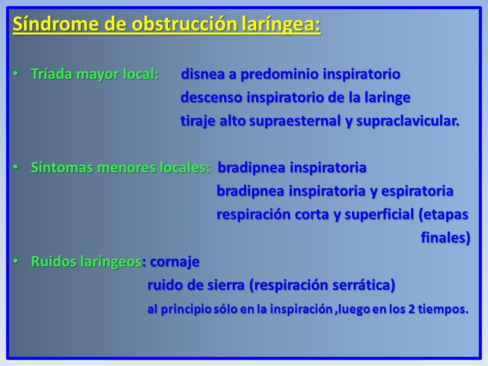 Síndrome de obstrucción laríngea: