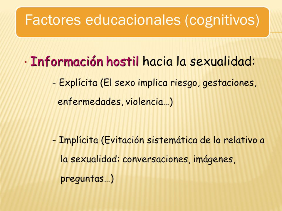 Factores educacionales (cognitivos)