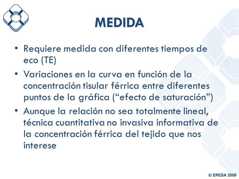 MEDIDA Requiere medida con diferentes tiempos de eco (TE)