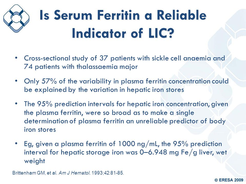 Is Serum Ferritin a Reliable Indicator of LIC