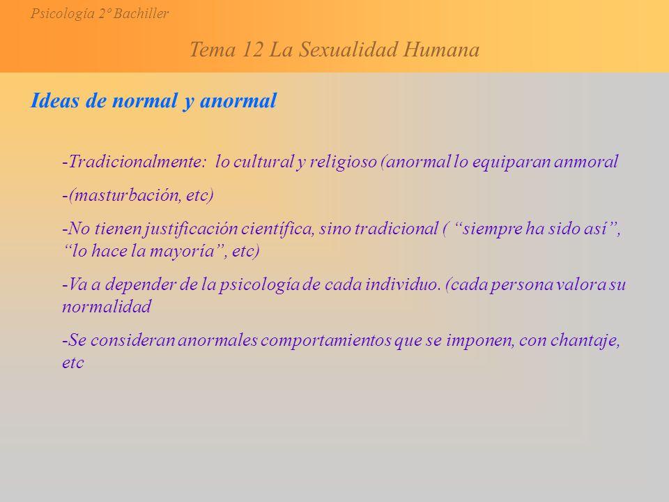 Ideas de normal y anormal