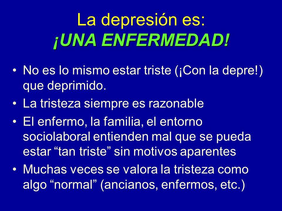 La depresión es: ¡UNA ENFERMEDAD!