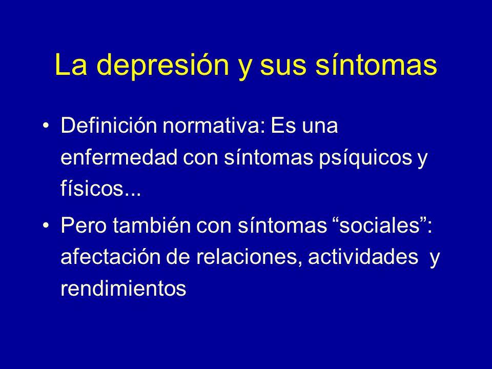 La depresión y sus síntomas