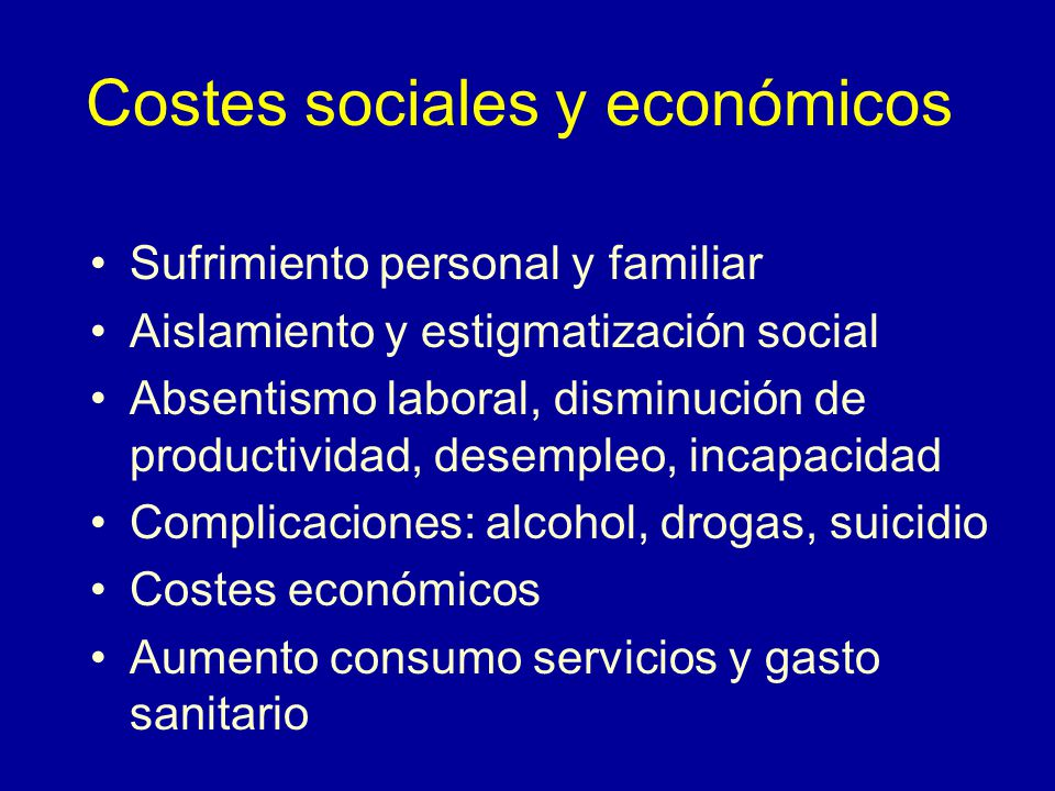Costes sociales y económicos