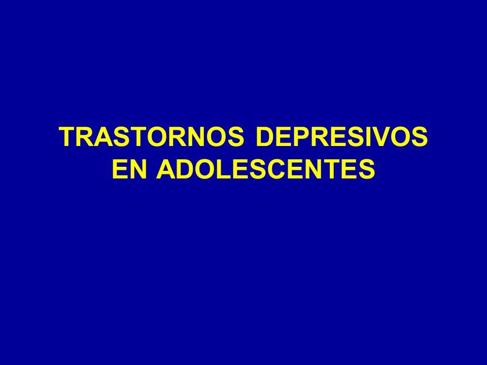 TRASTORNOS DEPRESIVOS EN ADOLESCENTES