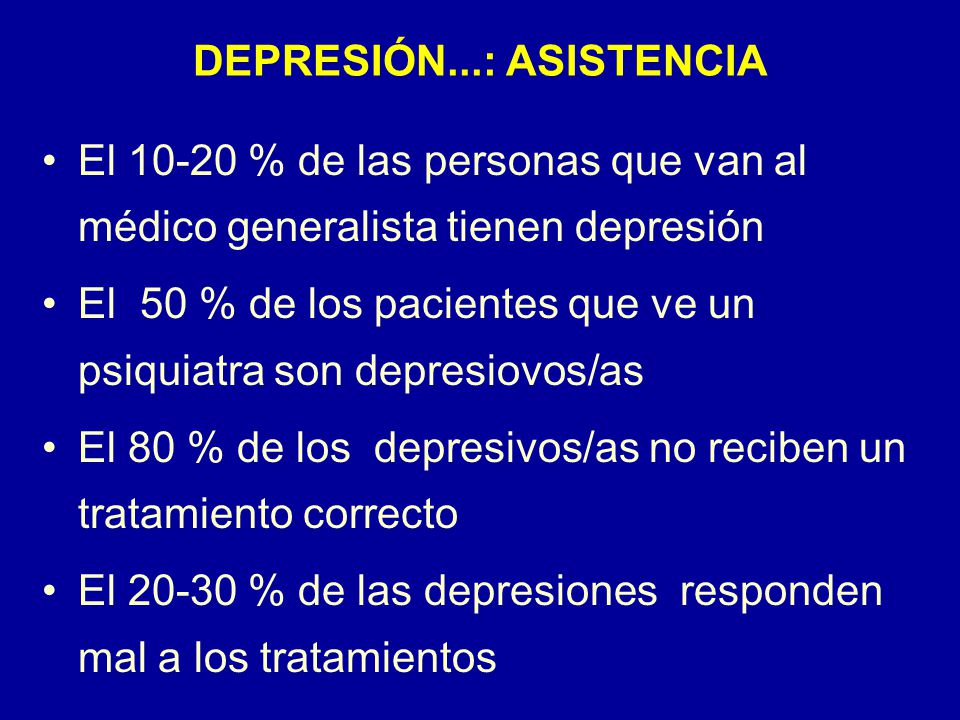 DEPRESIÓN...: ASISTENCIA