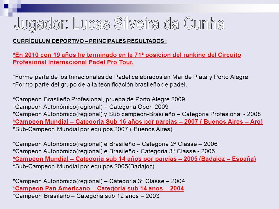 Jugador: Lucas Silveira da Cunha