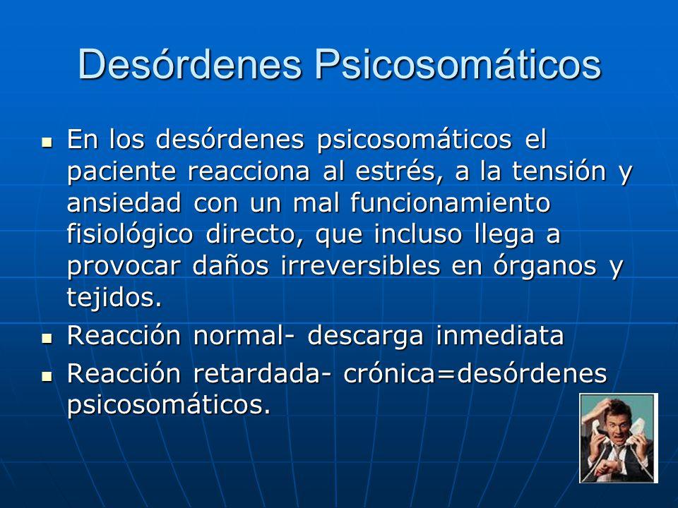 Desórdenes Psicosomáticos