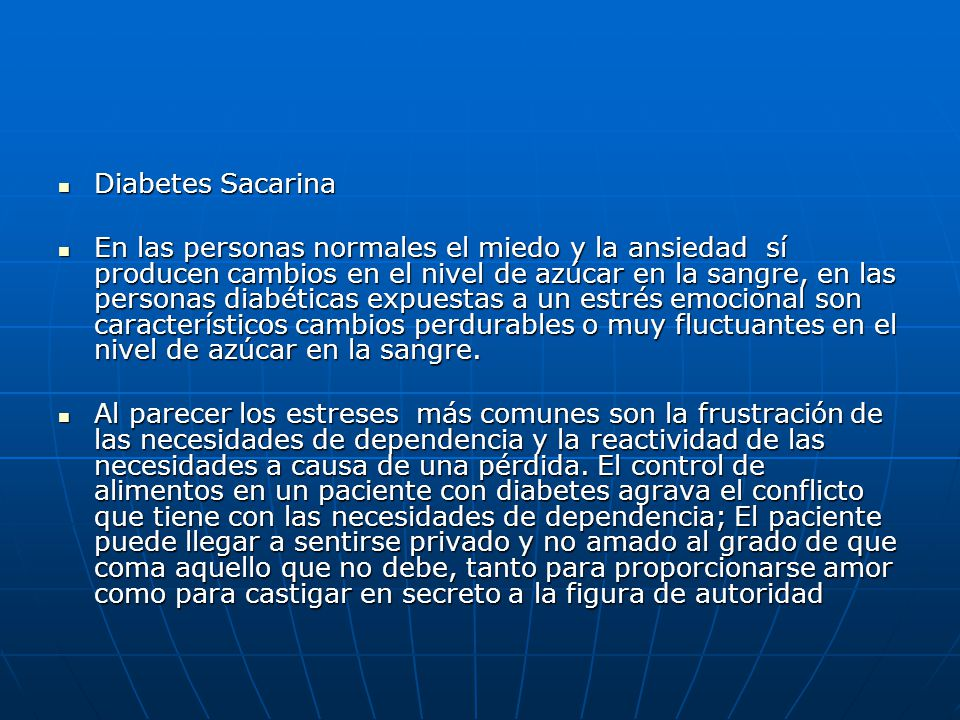 Diabetes Sacarina