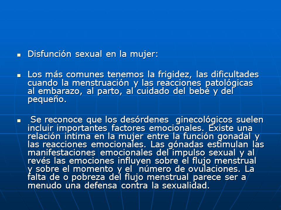 Disfunción sexual en la mujer: