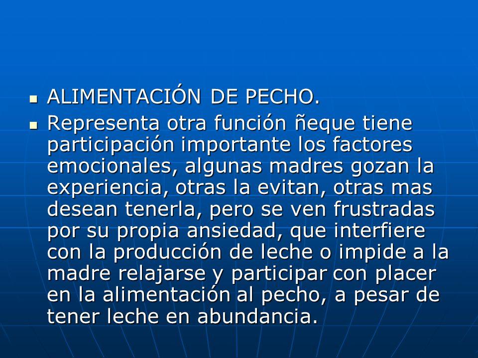 ALIMENTACIÓN DE PECHO.