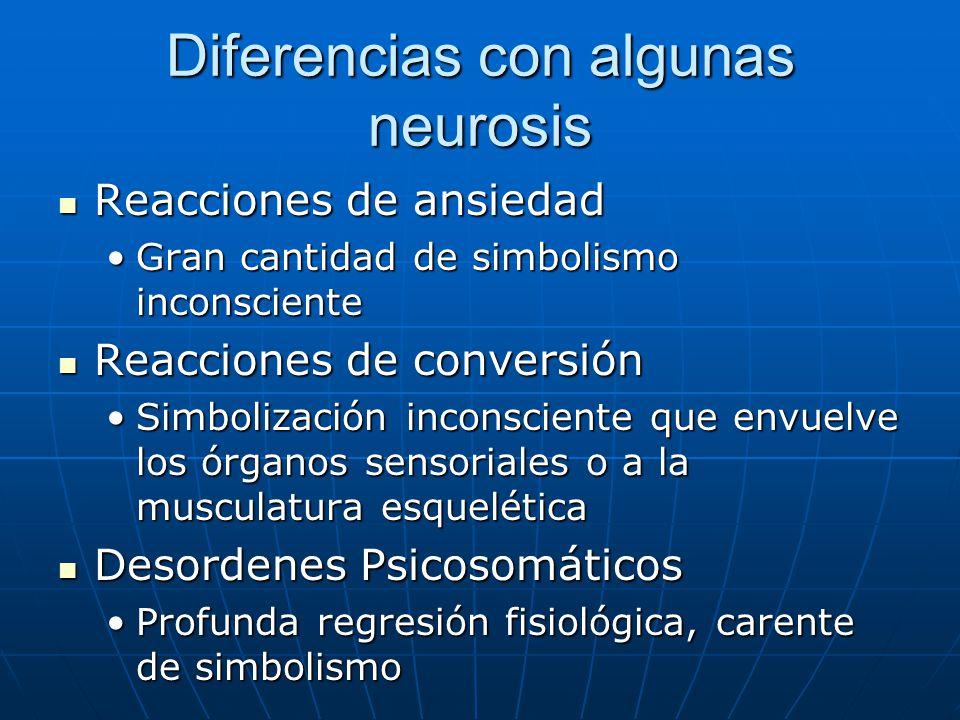 Diferencias con algunas neurosis