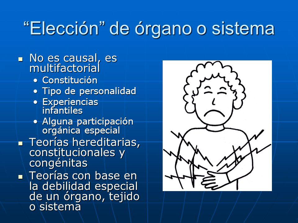 Elección de órgano o sistema