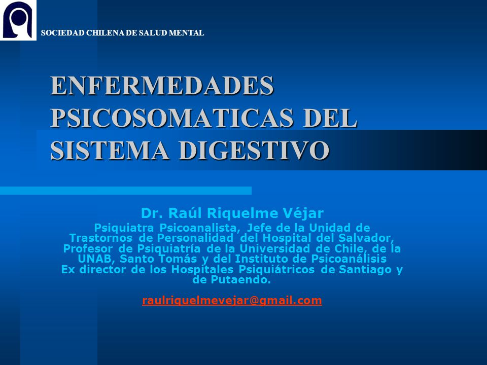 ENFERMEDADES PSICOSOMATICAS DEL SISTEMA DIGESTIVO