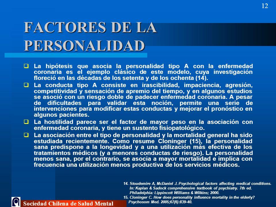 FACTORES DE LA PERSONALIDAD