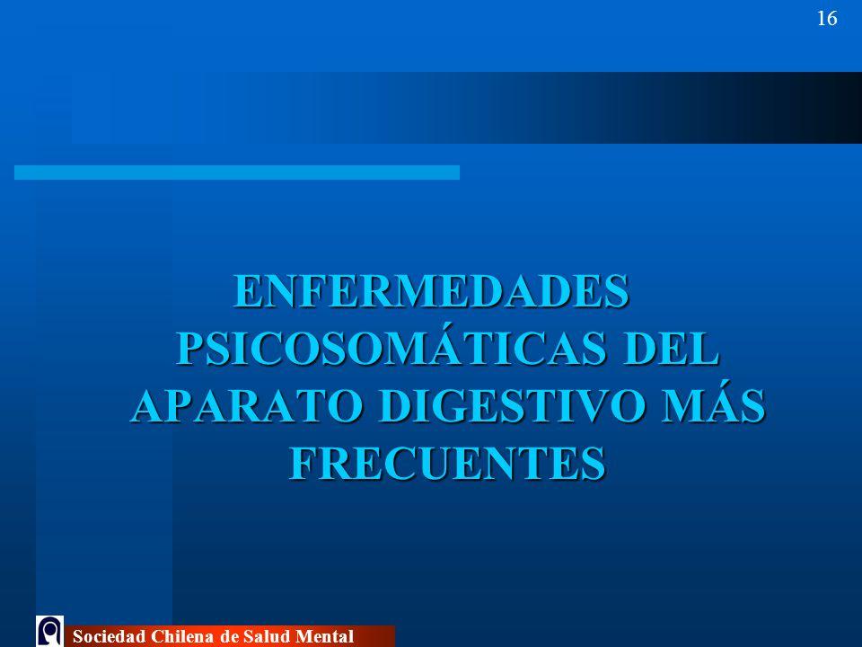 ENFERMEDADES PSICOSOMÁTICAS DEL APARATO DIGESTIVO MÁS FRECUENTES