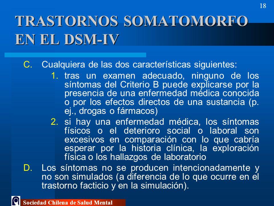 TRASTORNOS SOMATOMORFO EN EL DSM-IV