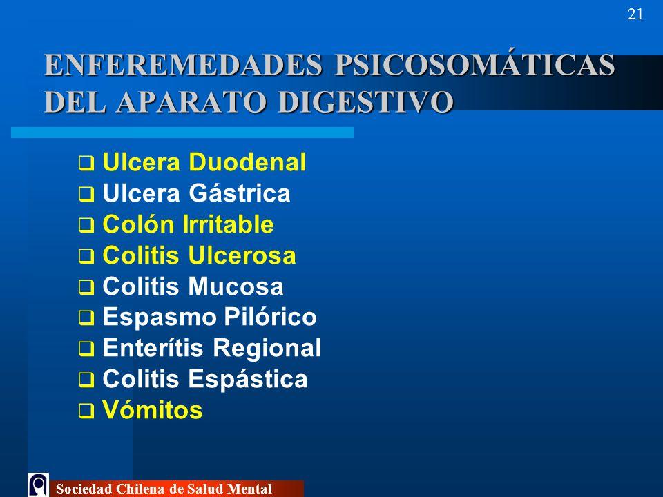 ENFEREMEDADES PSICOSOMÁTICAS DEL APARATO DIGESTIVO