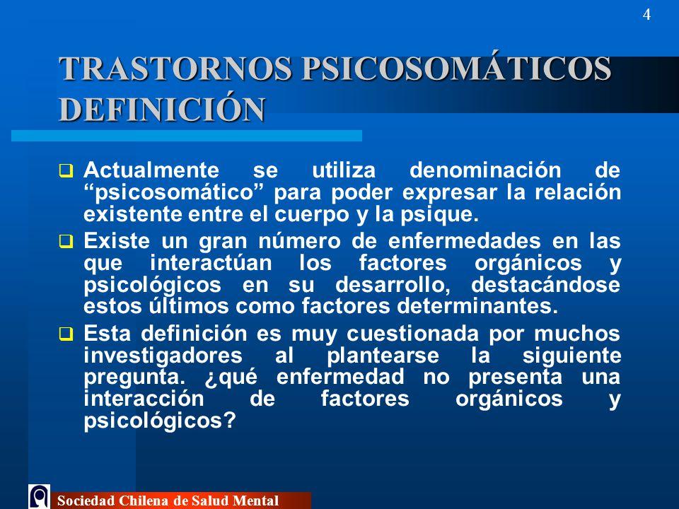 TRASTORNOS PSICOSOMÁTICOS DEFINICIÓN
