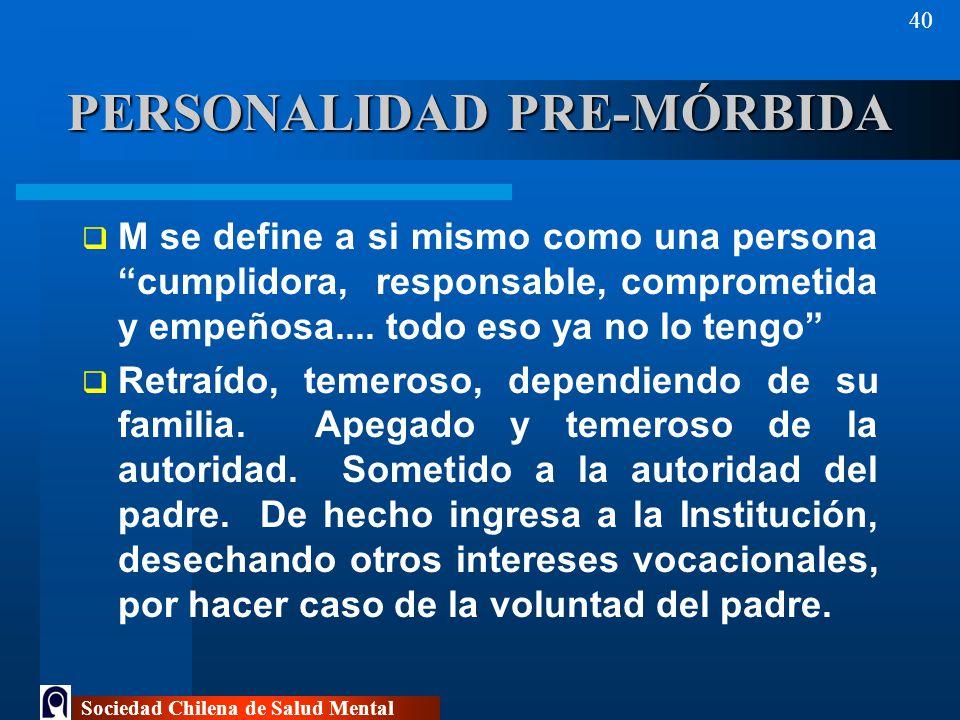 PERSONALIDAD PRE-MÓRBIDA