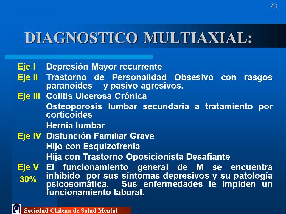 DIAGNOSTICO MULTIAXIAL: