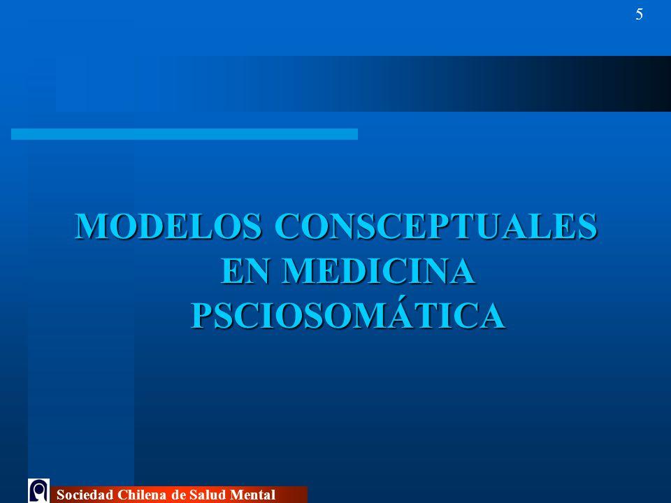 MODELOS CONSCEPTUALES EN MEDICINA PSCIOSOMÁTICA