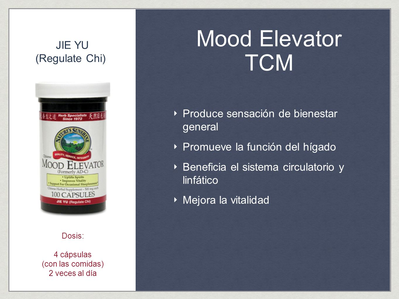 Mood Elevator TCM JIE YU (Regulate Chi)