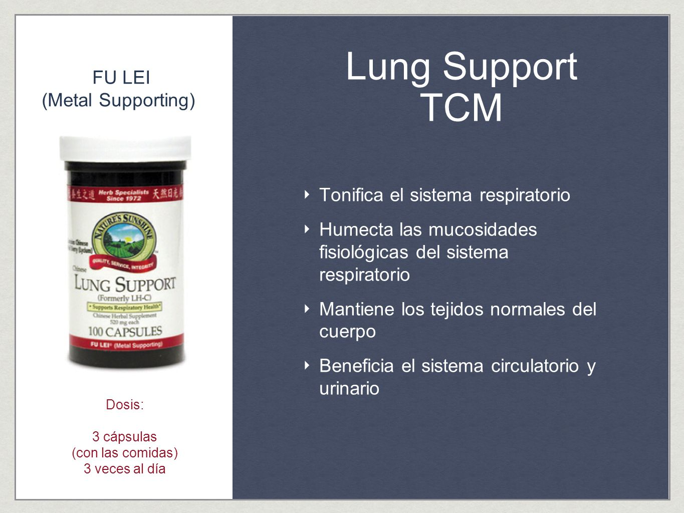 Lung Support TCM FU LEI (Metal Supporting)
