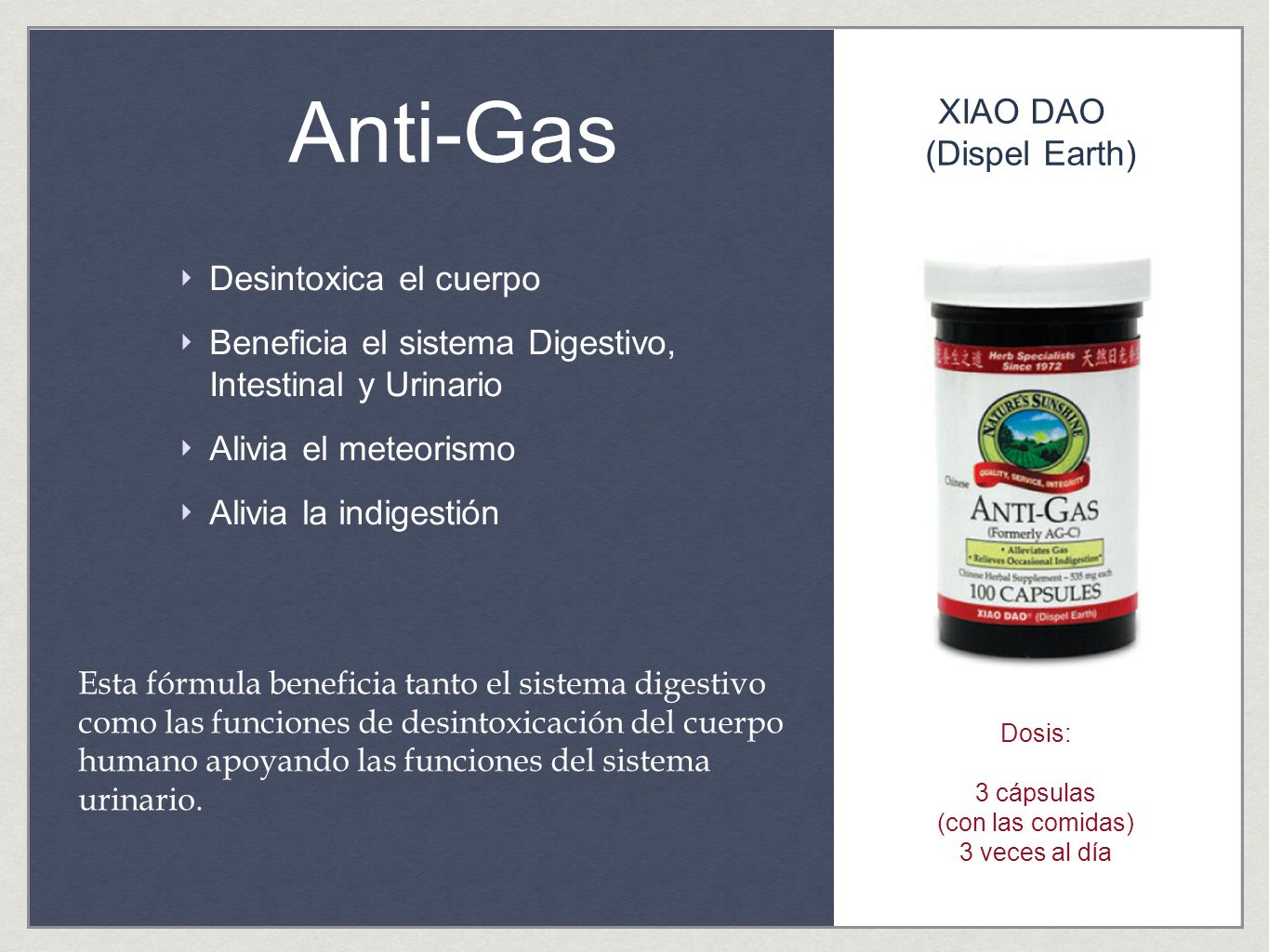 Anti-Gas XIAO DAO (Dispel Earth) Desintoxica el cuerpo