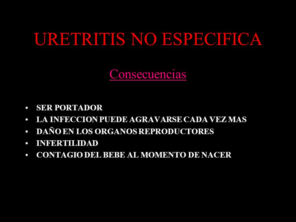 URETRITIS NO ESPECIFICA
