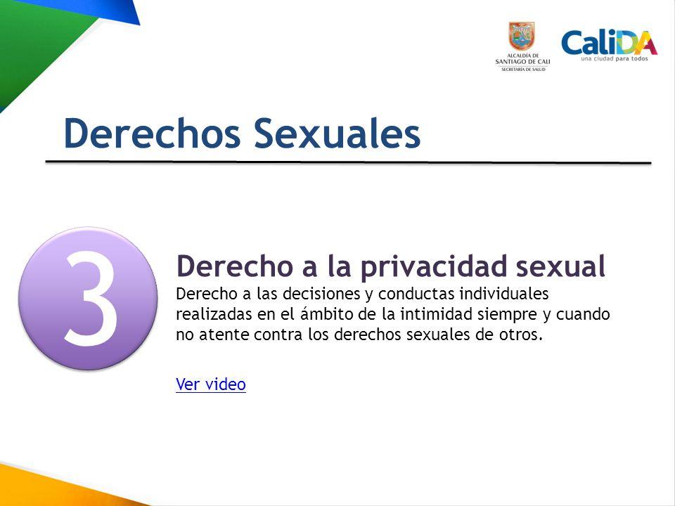 3 Derechos Sexuales Derecho a la privacidad sexual