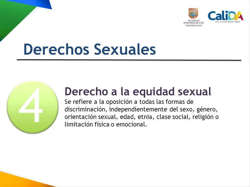 4 Derechos Sexuales Derecho a la equidad sexual