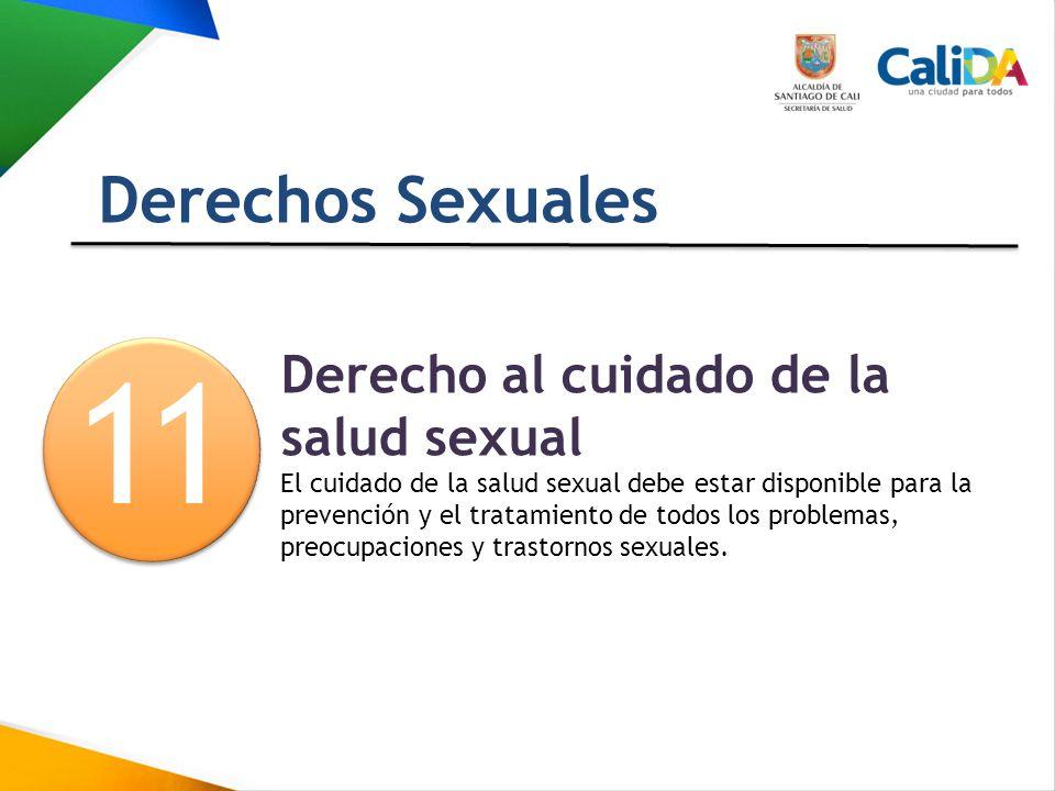 1 1 Derechos Sexuales Derecho al cuidado de la salud sexual